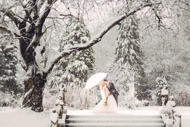 Image result for snowy wedding photos