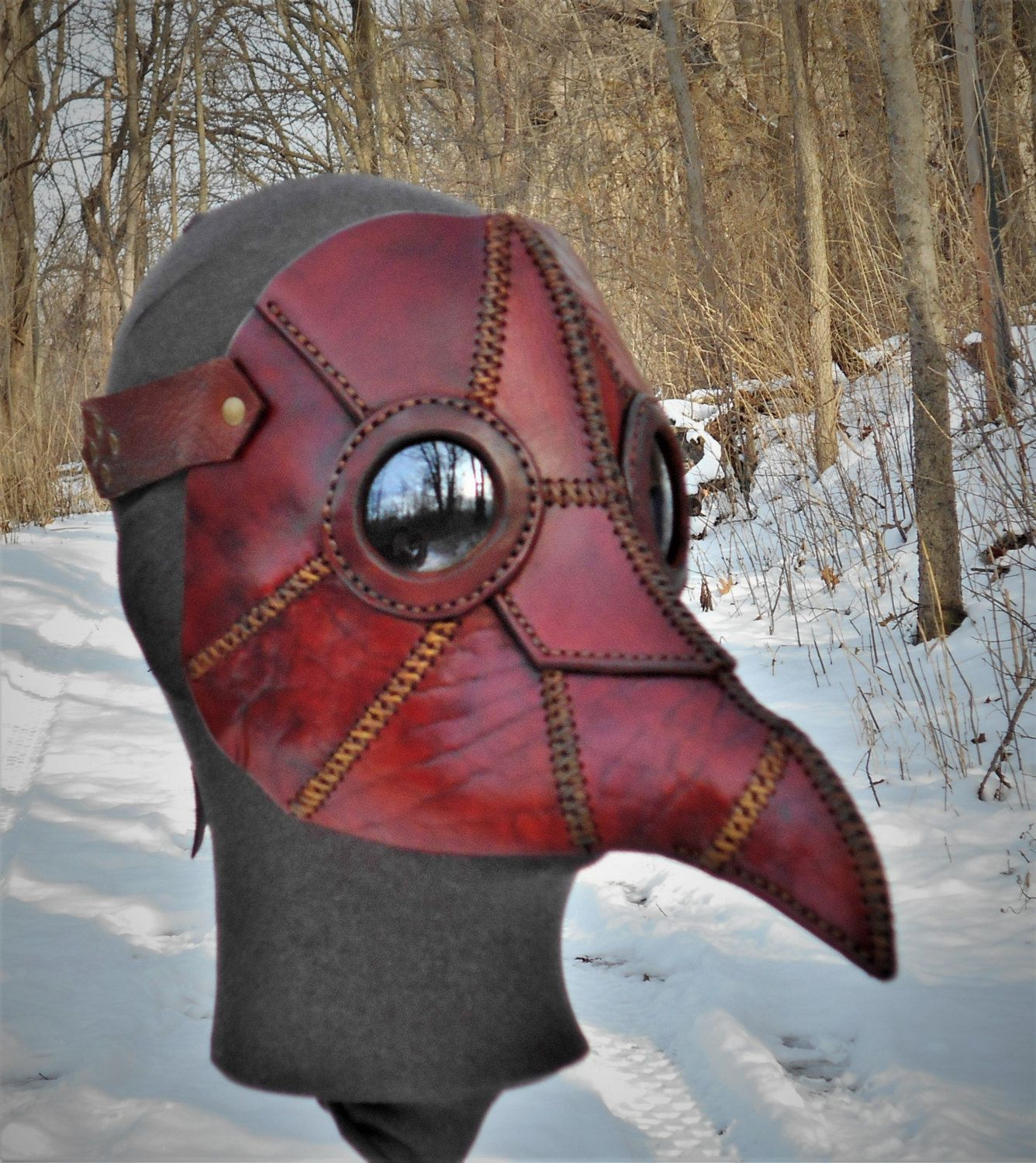 Leather Mask Apocalyptic Dystopia Rising Futuristic Survivor Plague Doctor Cosplay LARP by LAFuellingFacades on Etsy