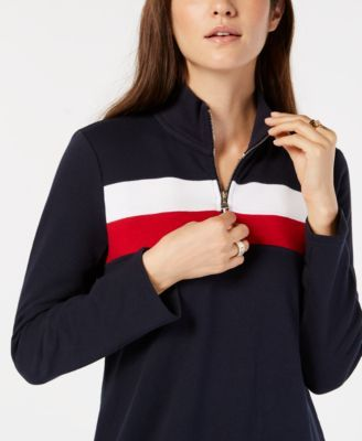 7b27e6c5832 Tommy Hilfiger Colorblock Half-Zip Dress, Created for Macy's - Blue XXL