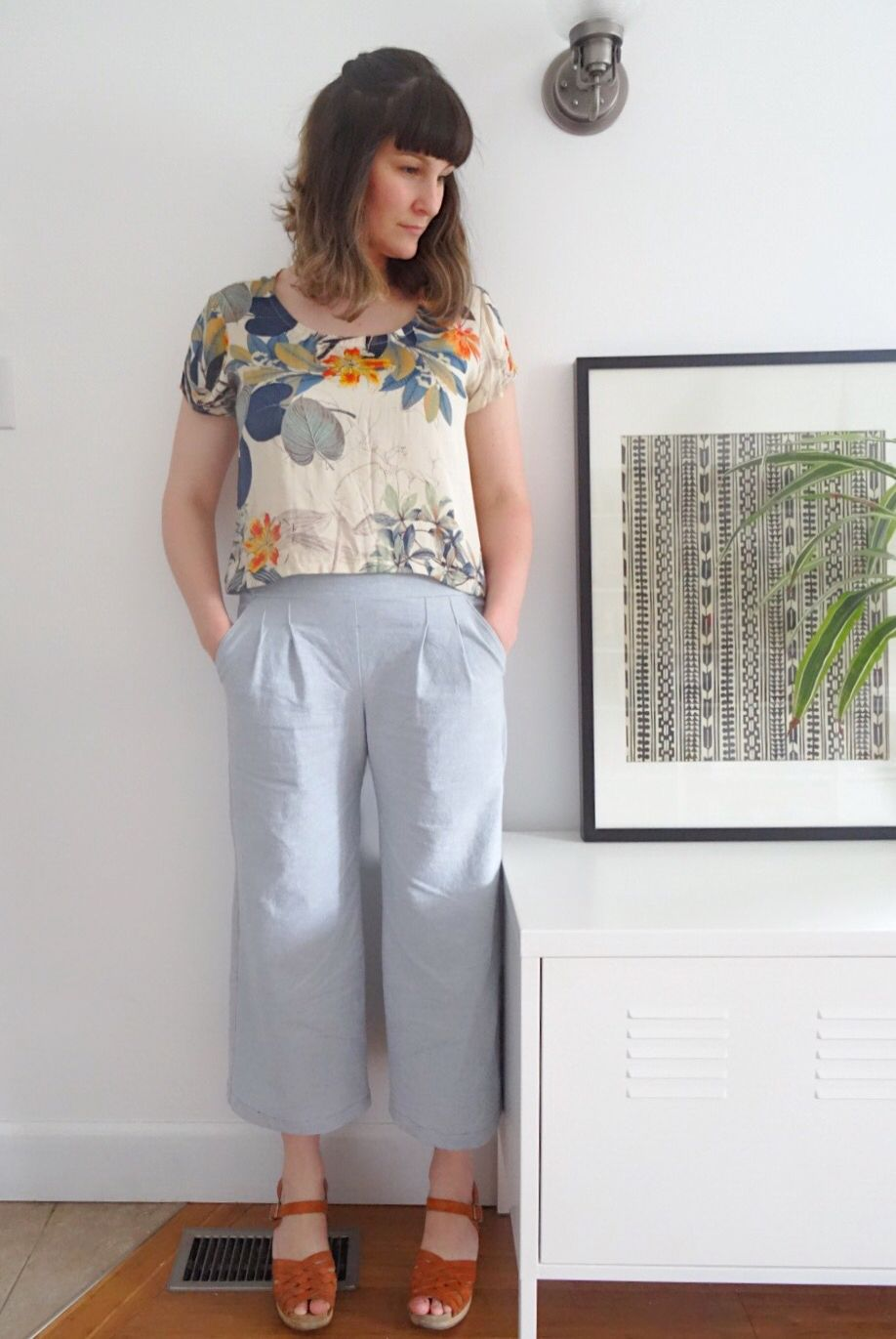 True Bias Emerson crop pants and Grainline Scout tee