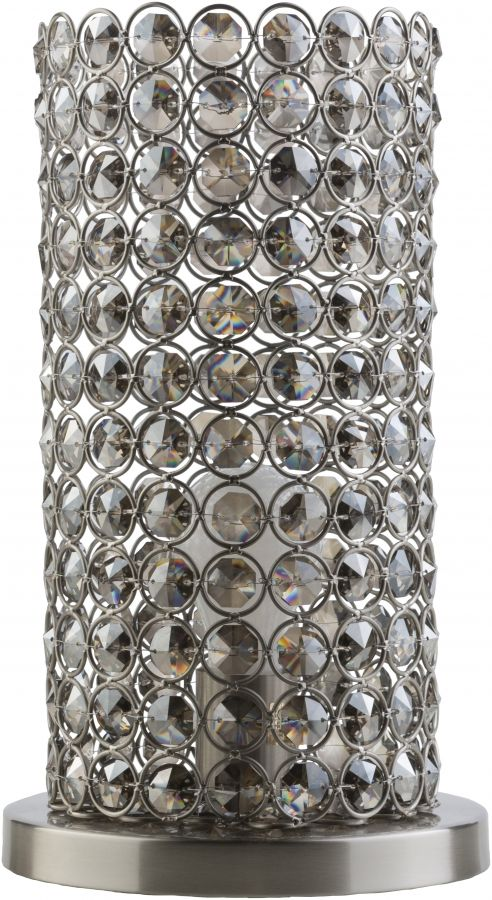 Dauphine Silver Iron Crystal Table Lamp (W 6 X H 13)
