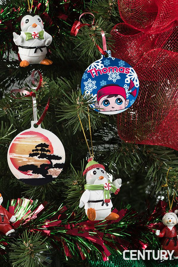 Create your own Holiday with customizable ornaments, martial arts