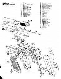 Parts Schematic Poster SIG Sauer 226 Poster