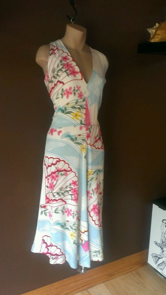 20e9b9411d Neiman Marcus Exclusive multi-color silk dress Sz 12