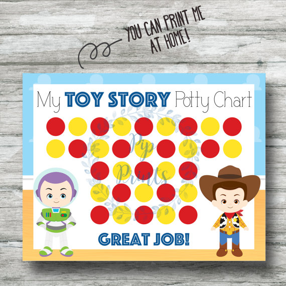Printable Toy Story Potty Training Chart Instant Download Buzz