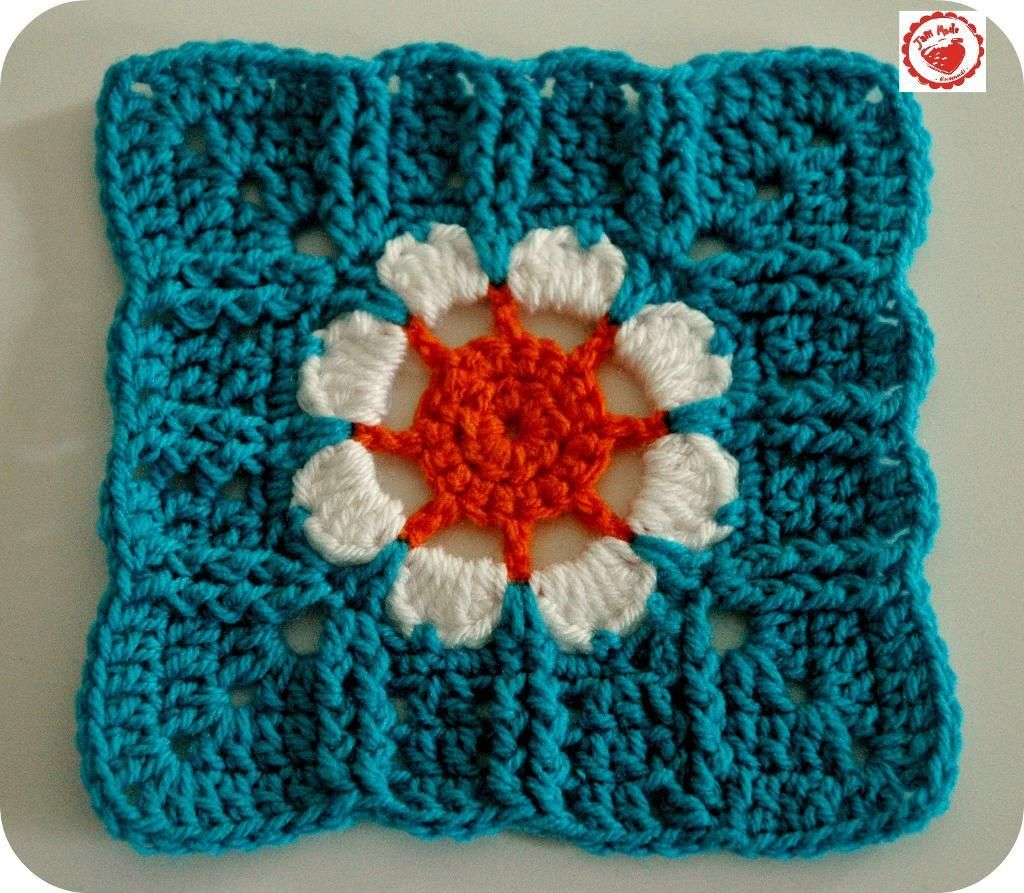 Blooming 76 8 Inch Square Granny Squares Crochet Pinterest