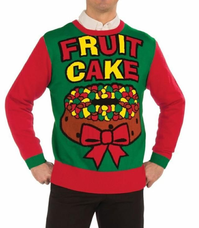 Fruit Cake Funny Ugly Christmas Sweater Holiday Long Sleeve T-Shirt Gift