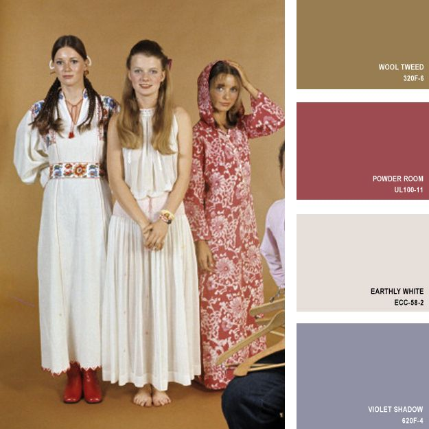 1970 | 16 Beautiful Color Palettes Inspired By Retro Fashion