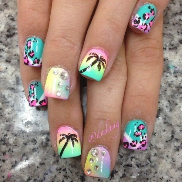 30 Funky And Trendy Nail Art Designs For 2014: 40 Awesome Beach Themed Nail Art Ideas To Make Your Summer
