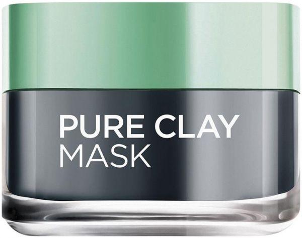 L Oreal Paris Pure Clay Mask Charcoal Detoxifies And Clarifies 50ml Pure Clay Mask Charcoal Clay Mask Clay Masks
