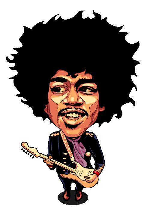 Jimi Hendrix Cartoon