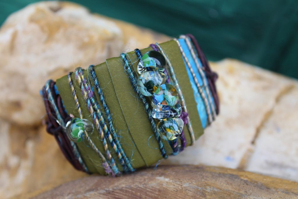 Ancient Waters Cuff (Customer Design) - Lima Beads