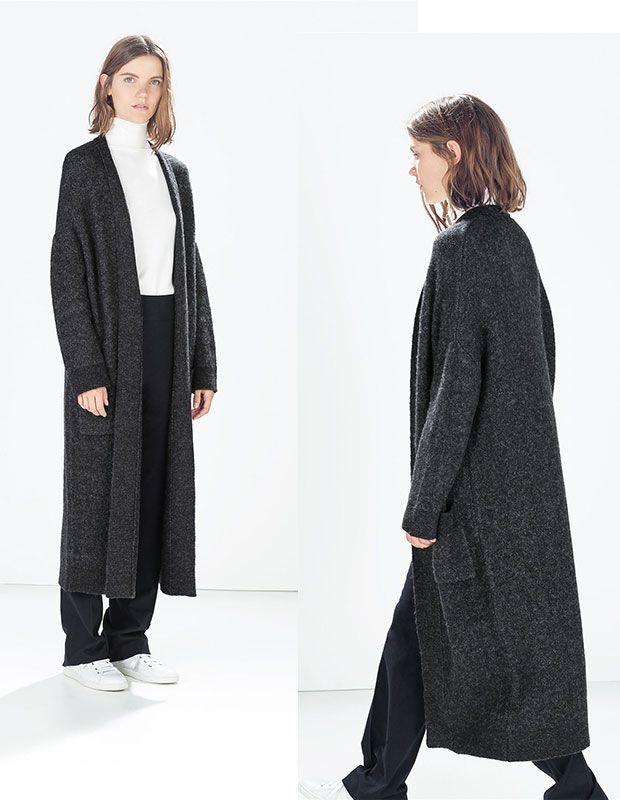 Coz Uzun Bayan Hirka Zara 2014 2015 Koleksiyonu Kadin Giyim Zara Hirkalar