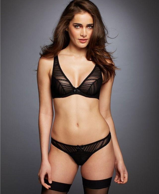 Babes in black bra 3