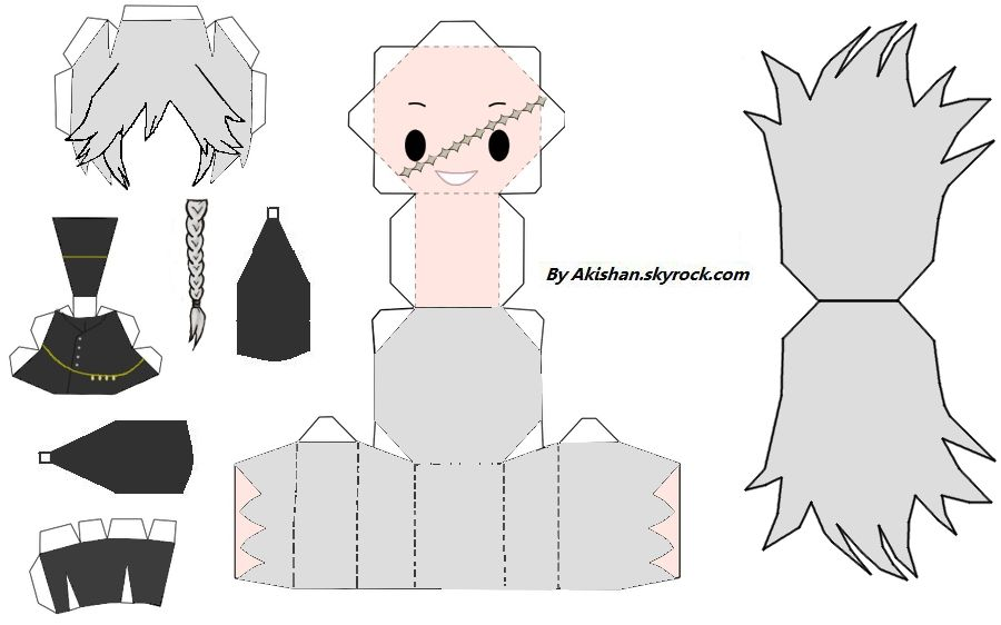 Undertaker Paper Craft Undertaker Papercraft  Kuroshituji