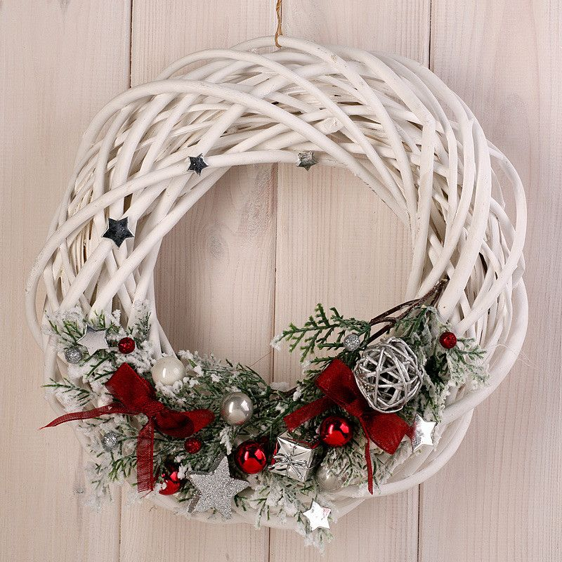 Wianek Na Drzwi Bozonarodzeniowy 30 Cm Christmas Wreaths Diy Christmas Wreaths Christmas Ornament Wreath