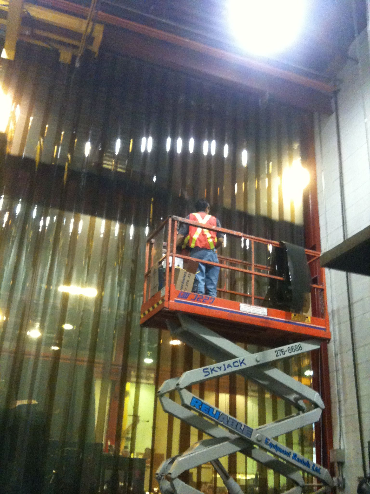Strip Curtain Wall Exhibits 12 Amber Weld Strip Material With A