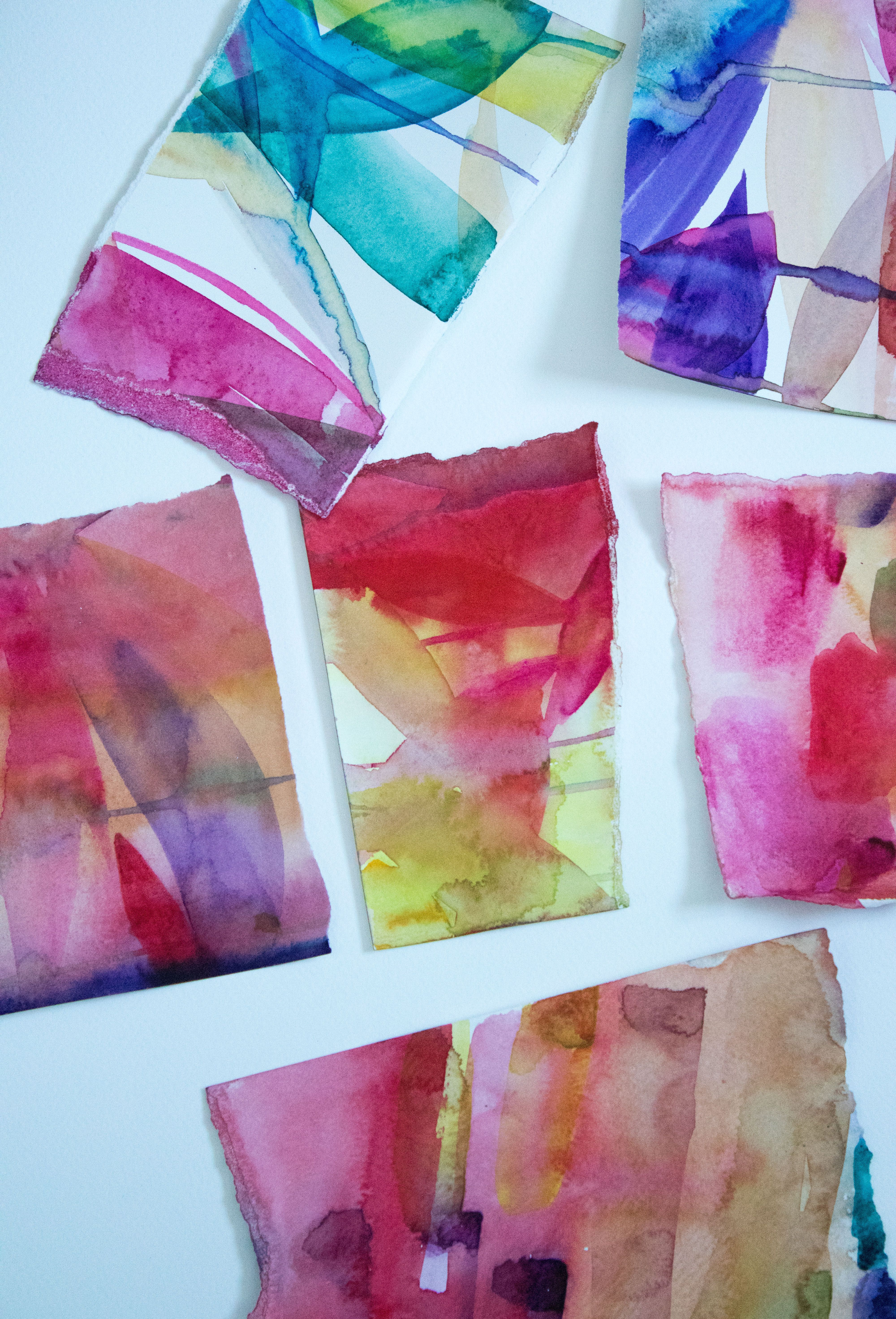 Experiments With Colour From Artist Helen Wells In 2019 Abstract