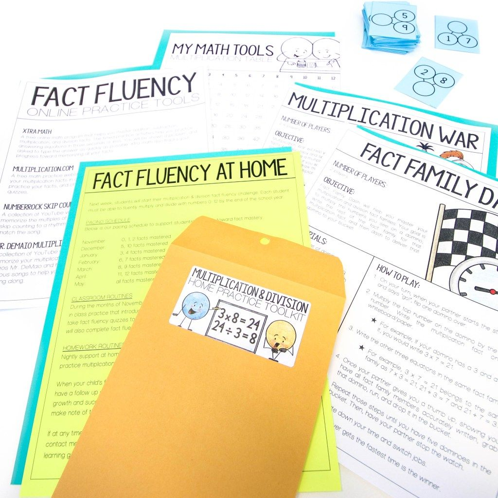 Third Grade Multiplication Amp Division Fact Fluency Home