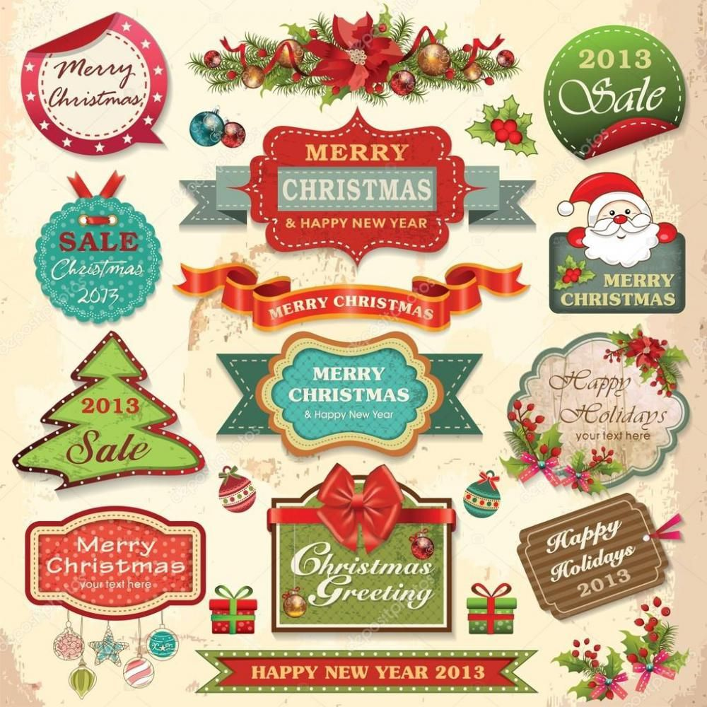 Free template christmas address labels