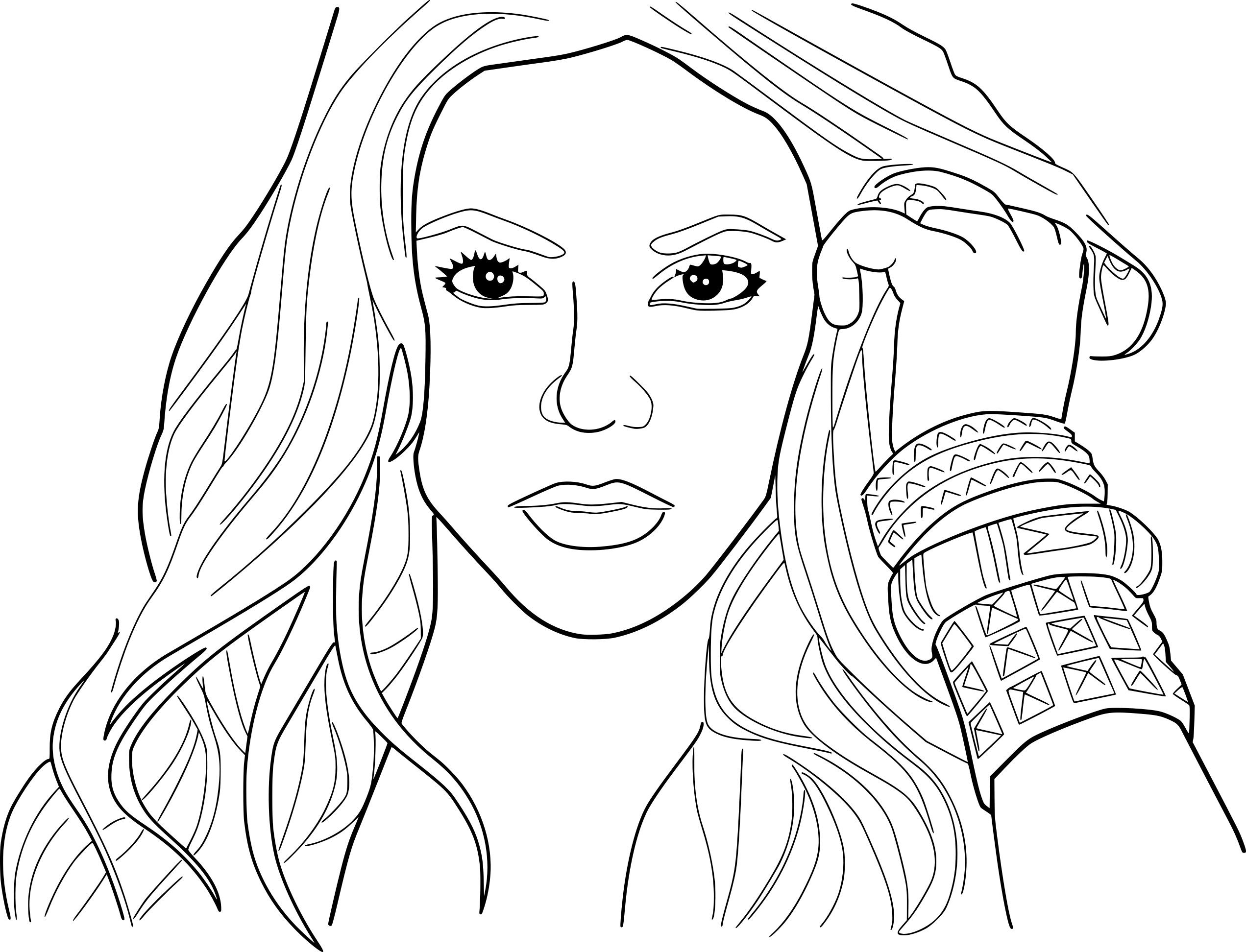 shakira coloring pages  mermaid coloring pages coloring