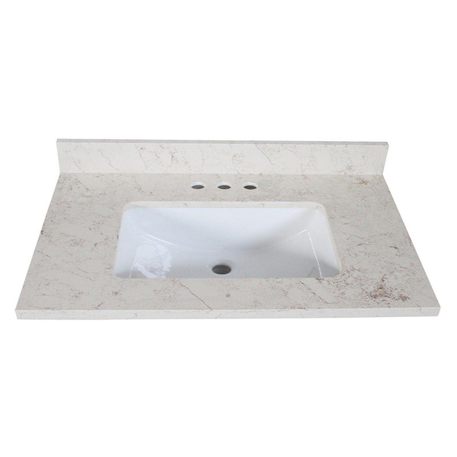 Design House Giallo Quartz Single Sink Vanity Top In 2019