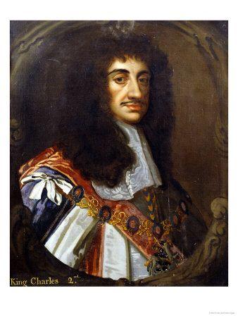 King Charles II (1660-1685). House of Stuart. 1st cousin 9 times ...