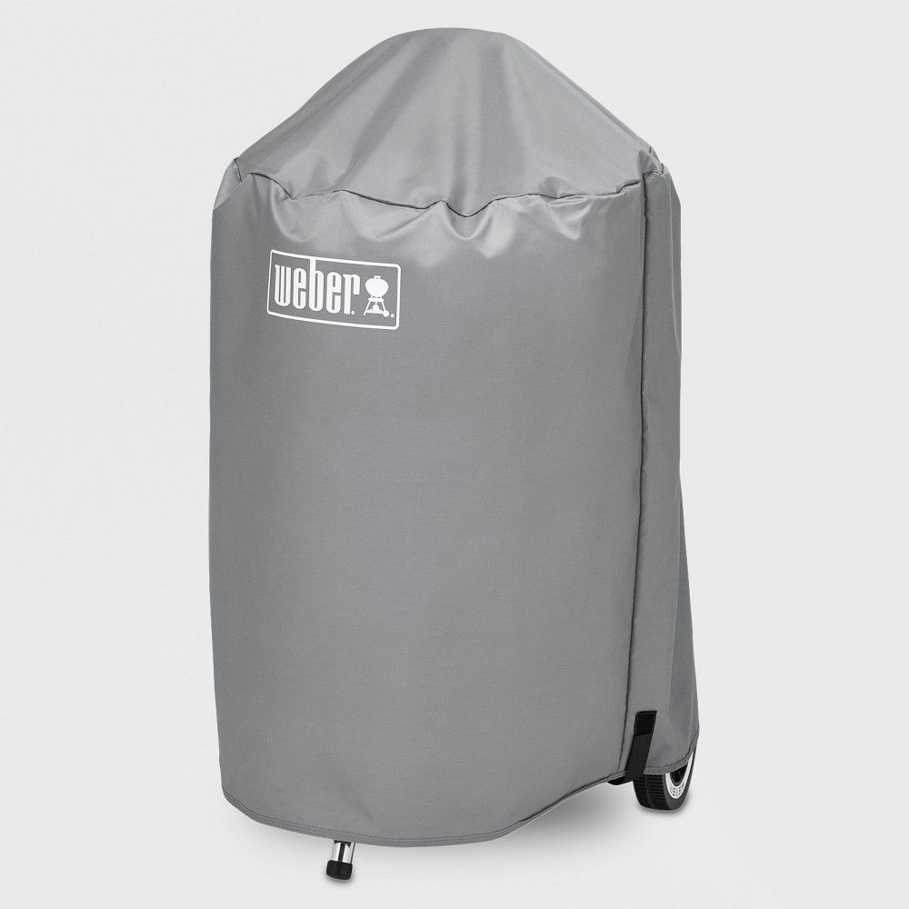 Weber 22 Value Charcoal Grill Cover Gray Charcoal Grill Charcoal Bbq Bbq Cover