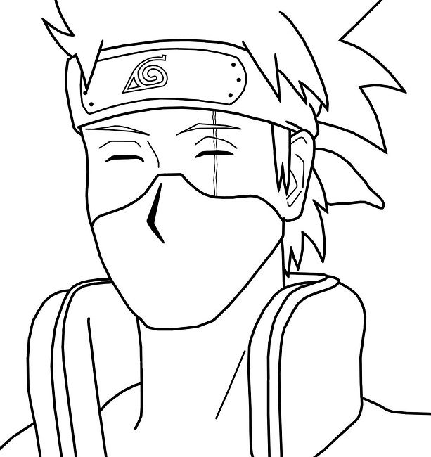 Naruto Coloring Pages Kakashi With Images Coloring Pages