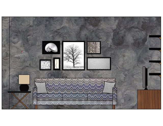 GhostChairGal Living Room Interior Elevation I Made In Photoshop