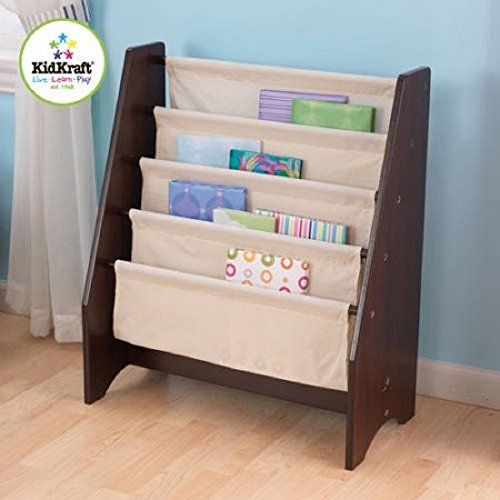 Make Reading Time Exciting With This KidKraft Sling Bookshelf Featuring A Stylish Espresso Colored Design