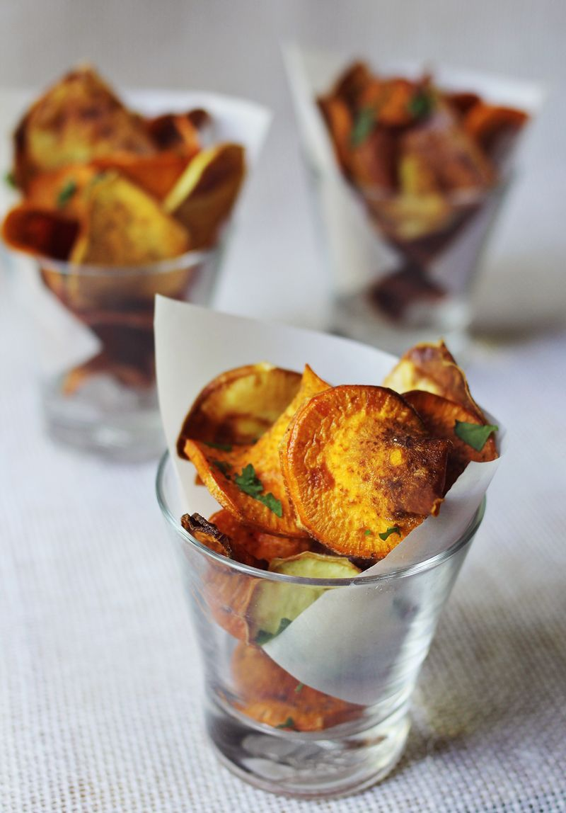 Chips de batatas al horno