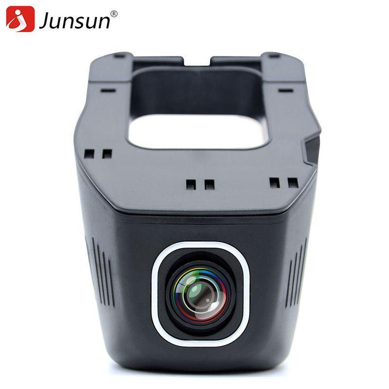 Junsun auto dvr kamera video recorder wifi app novatek 96655 imx 322 dvr fhd 1080 p registrator nachtsicht dash cam