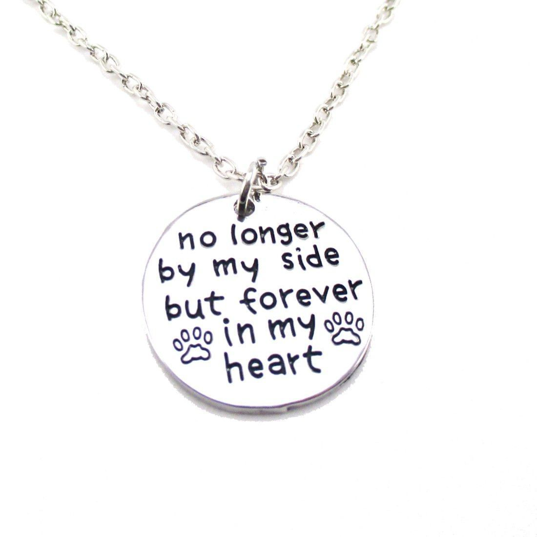 Dog memorial no longer by my side but forever in my heart pendant dog memorial no longer by my side but forever in my heart pendant necklace aloadofball Image collections