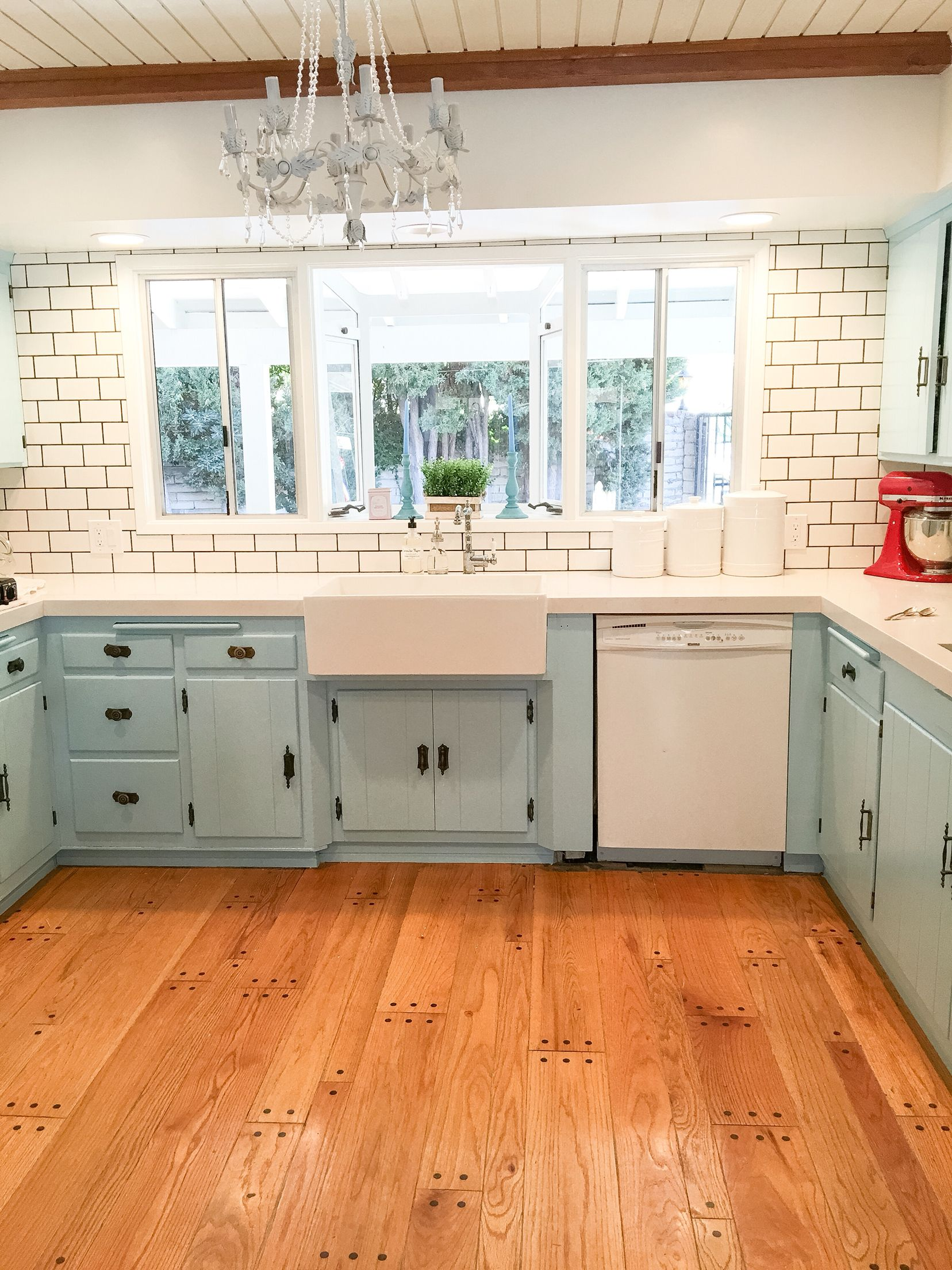 Farmhouse French Provencal Inspired Kitchens For Our House Remodel Phase 1 Light Blue Kit Trendy Farmhouse Kitchen Kitchen Cabinet Styles Dark Green Kitchen