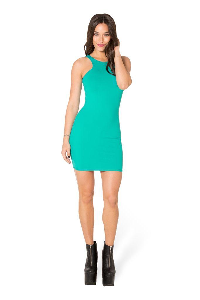 Matte Jade Reverse Dress (WW $60AUD / US $55USD) by Black Milk Clothing