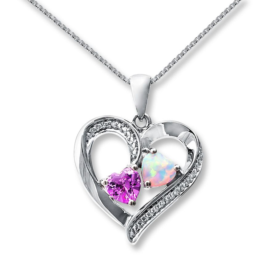 jewelers hover gold ct en diamond to heart kaystore necklace tw round kay infinity zoom white cut mv zm