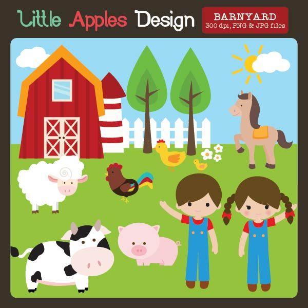 barnyard clipart adorable graphics for invitations crafts and rh pinterest com barnyard roundup clipart barnyard clipart black and white