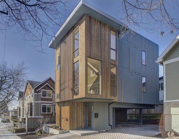 Ballard Hause Exterieur-Design zum Öffnen mit Glasfenstern und einzigartigen Stil mit großen Ideen darchitecture