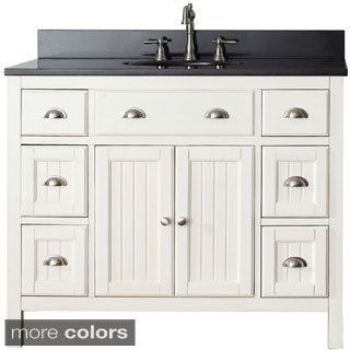 Charming Shop For Avanity Hamilton French White 42 Inch Vanity Combo. Get Free  Delivery At