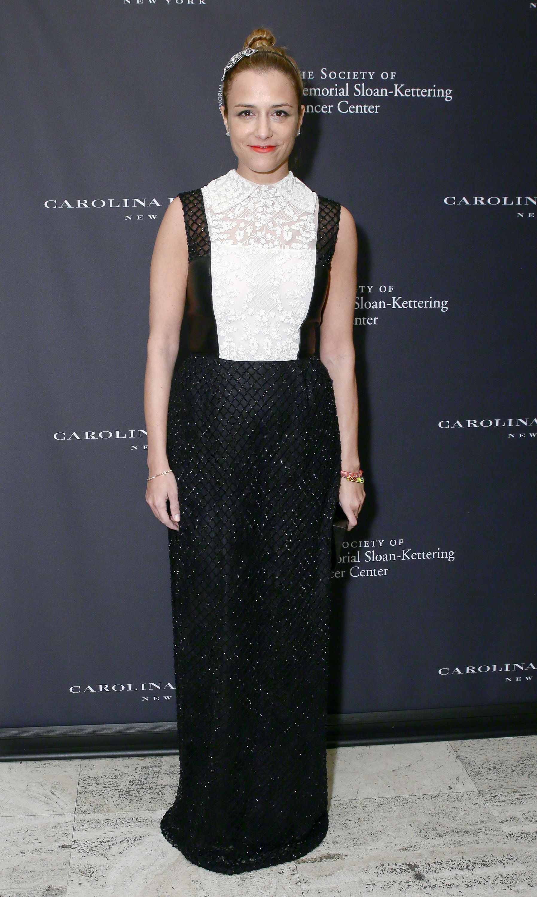 Charlotte Ronson wore a Valentino gown from the Fall/Winter 2013 Collection