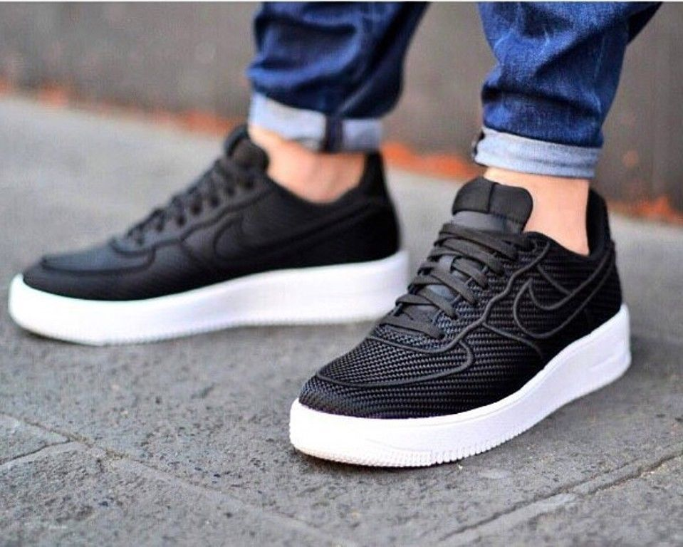 new product 37db9 548fc Nike Air Force 1Ultra Force LV8 Men's Black casual shoes #sneakers 864015- 001 #Nike #AthleticSneakers