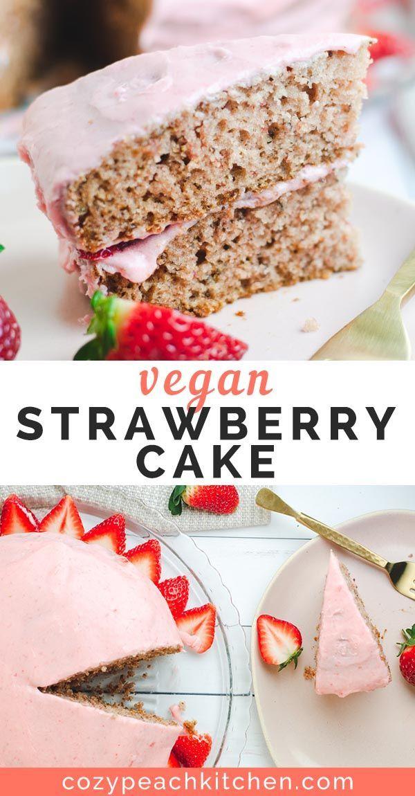 Double Strawberry Vegan Cake