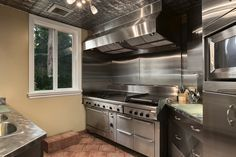 Small Commercial Style Kitchen In Residence Commercial Style Kitchen Little House Plans Commercial Kitchen