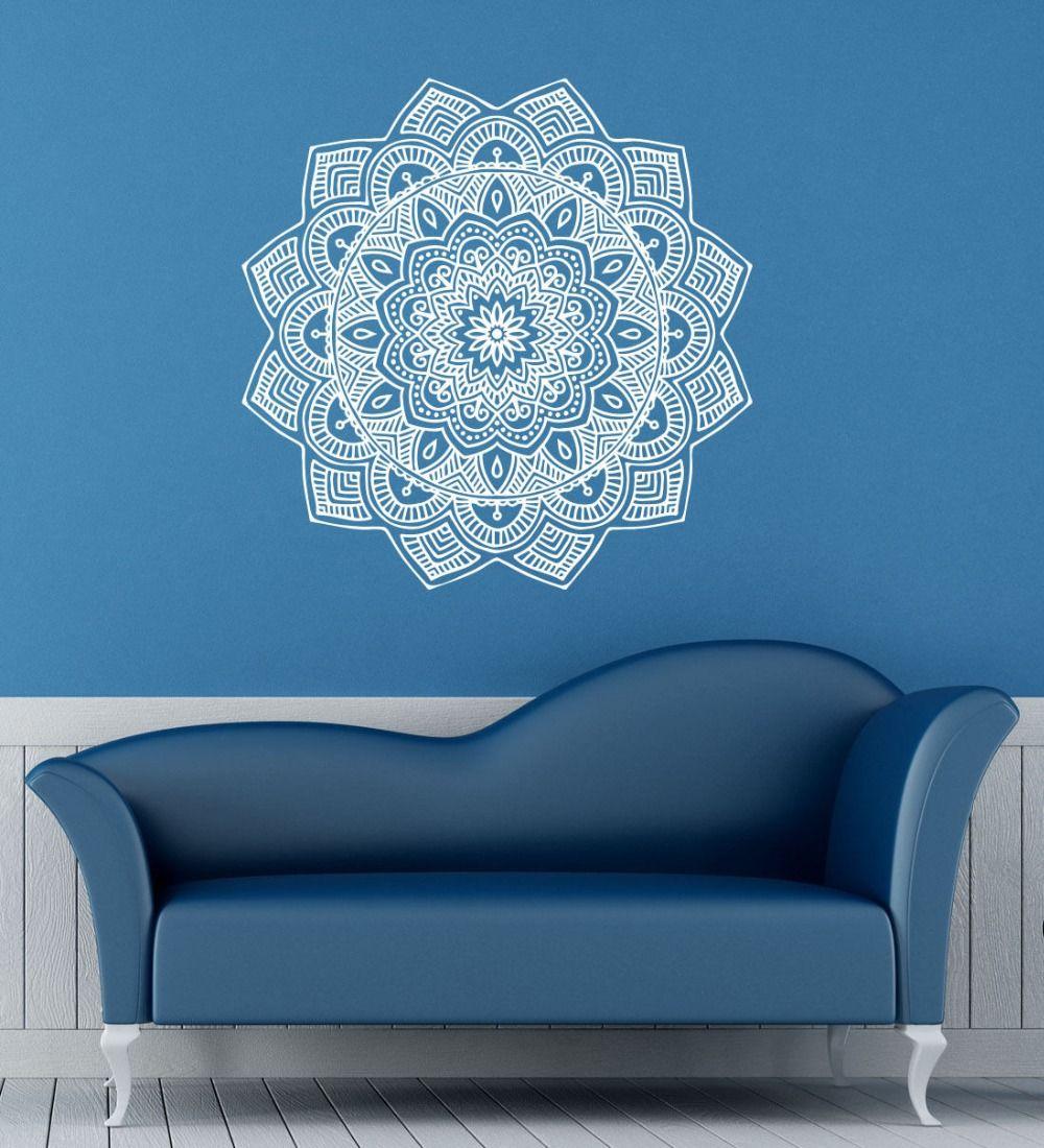 Wall Mural Mandala Mantra Chakra Meditation Yoga Font