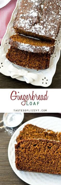 Gingerbread Loaf - Soft, moist, molasses quick quick bread is perfectly seasoned with ginger and nutmeg. Classic holiday flavor that you love!