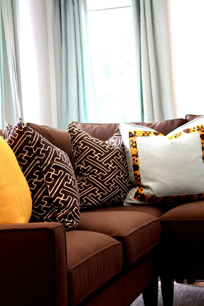 enchanting paint colors living room brown couch | Porter Design Company | Paint colors for living room ...