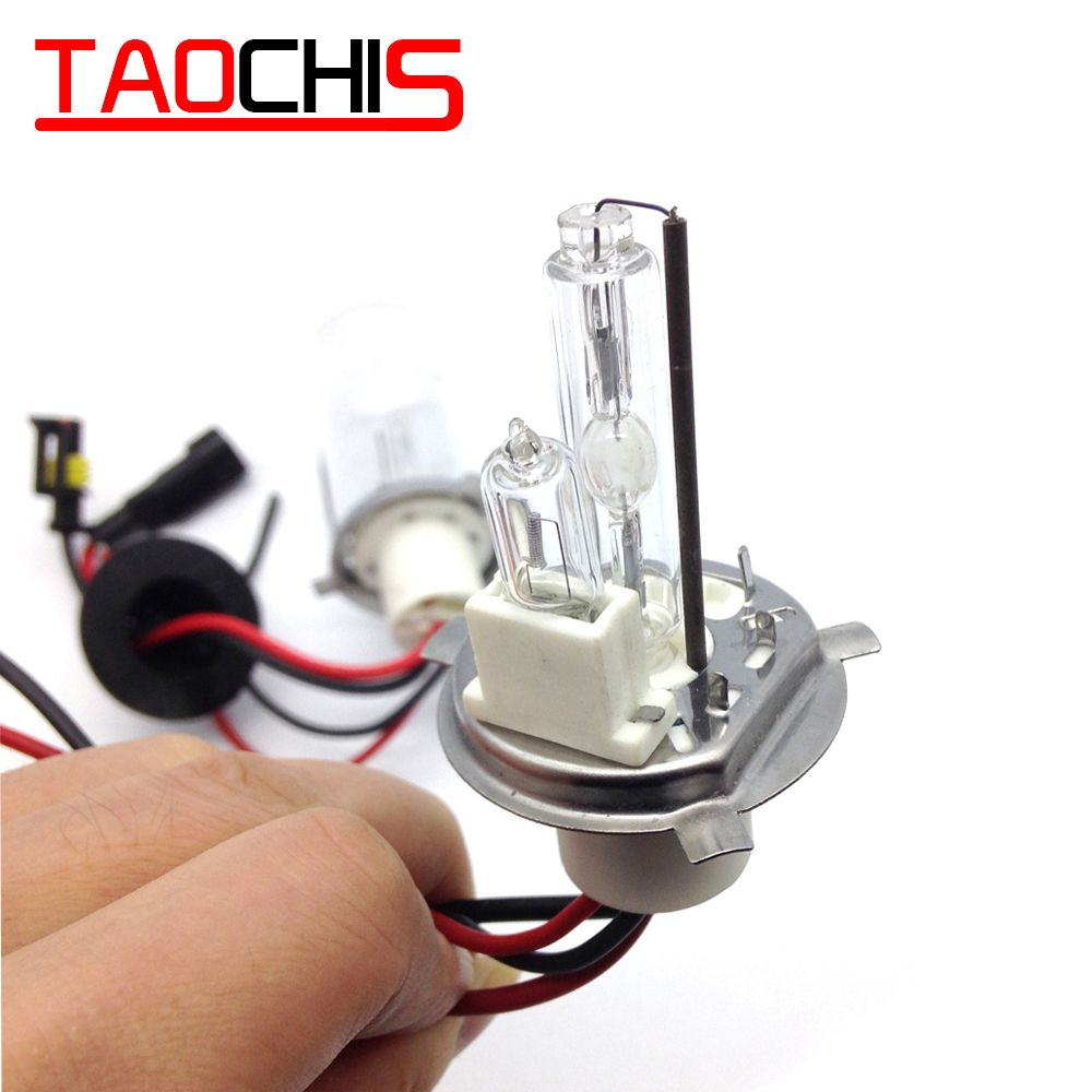 12v 100w H4 2 Hid Bi Xenon Bulbs Light Head Fog Light Hi Lo Hid Bulbs Halogen Lamp Bulb
