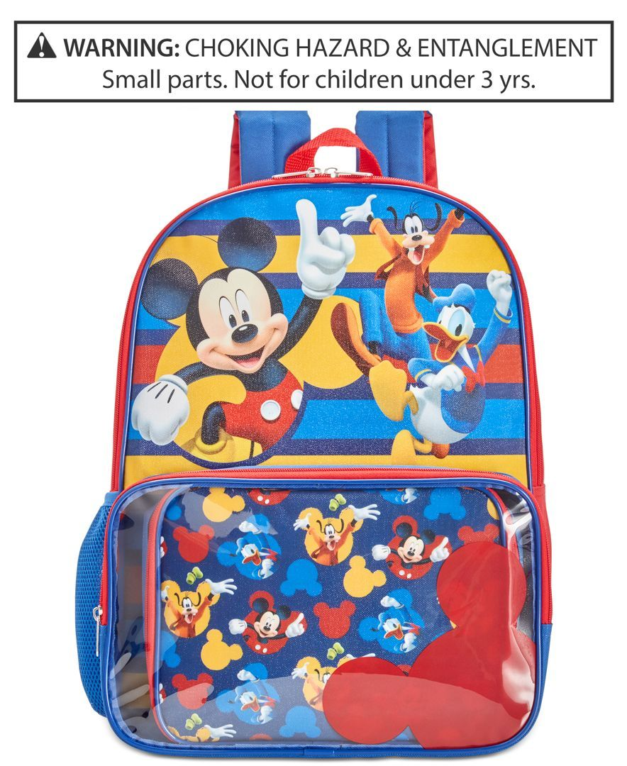 Mickey Mouse Backpack Lunch Bag Little Boys 2 7 8 20
