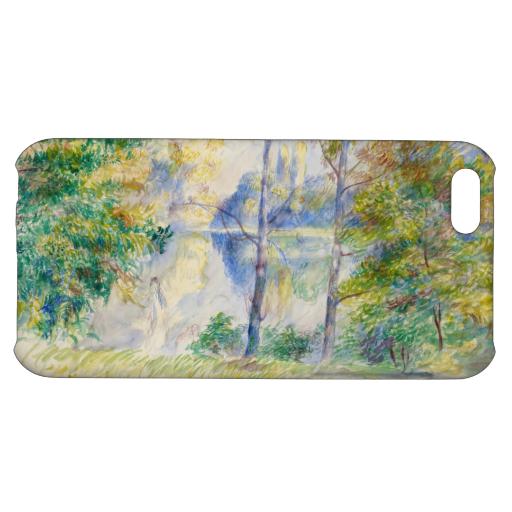 #view of a #park by Pierre-Auguste #renoir #art #case #iphone 5c #iphone5c #impressionism #watercolor #landscape